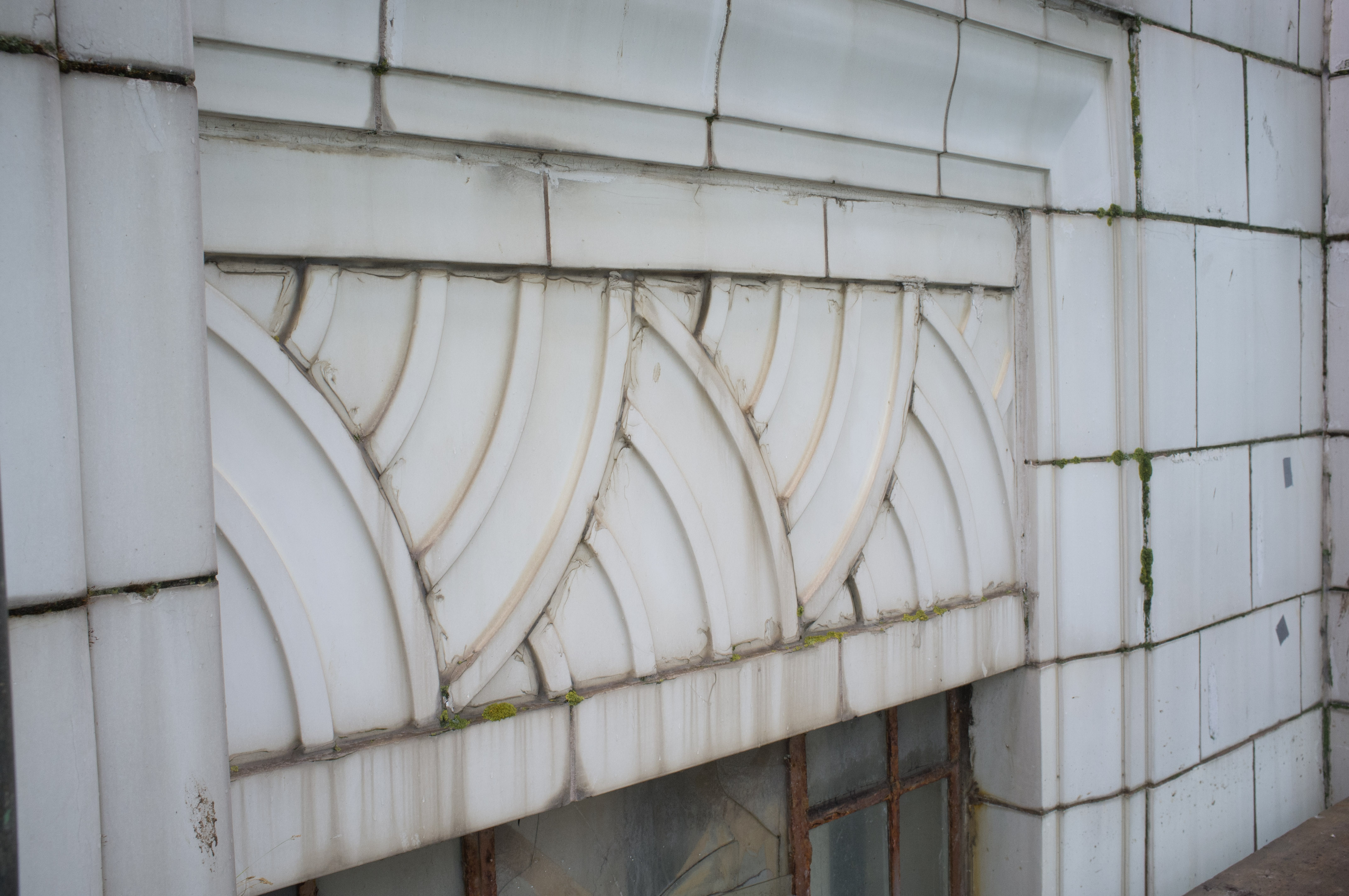 Window head and lintol detail